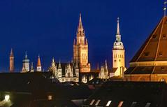 spires in the blue (werner boehm *) Tags: wernerboehm mnchen trme spires bluehour