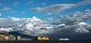 Leaving Naples (Flick'gAbility) Tags: naples italy europe napoli italia gulfofnaples castle casteldellovo cityscape mtvesuvius vesuvio ship sky clouds canonef50mmf14usm