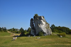 landscape of Jura (JoannaRB2009) Tags: zamekwmirowie mirwcastle zamek castle rocks people holiday landscape view blue meadow green wyynakrakowskoczstochowska polska poland summer sunny nature
