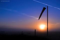 Sunrise Silhouette (SteveJ442) Tags: sunrise landscape windsock silhouette flight flying morning nikon dawn
