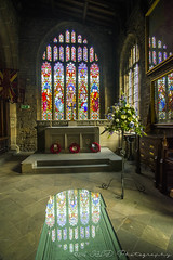 Stained glass reflection at Halifax Minster (IHD Photography) Tags: halifax minster church stained glass reflection pentax k1 tokina2035mmf28atxpro