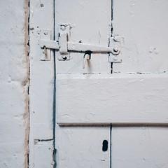 Latch (Peter.Bartlett) Tags: wall square urbanarte lunaphoto mobilephone cellphone iphone5s wood keyhole lock latch door