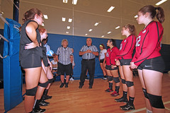 IMG_9487 (SJH Foto) Tags: girls volleyball high school mount olive mt team tween teen teenager varsity tamron 1024mm f3545 superwide lens pregame ceremonies ref referee captains coin toss