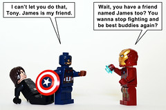 Cap V Iron Man: Dawn of Civil War (Oky - Space Ranger) Tags: lego marvel super heroes captain america civil war iron man tony stark bucky james winter soldier zack snyder