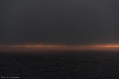 Luming fog at sea (Elvar H) Tags: arcticocean helmerhansen nordaustlandet siarctic fog sunset