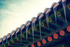 Icicles (Yoonki Jeong) Tags: roof ice design pattern korea seoul icicle tradition eaves   hanok