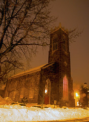 Christ Episcopal Church on a foggy snowy night (Bob Gundersen) Tags: old longexposure winter orange usa brown moon snow cold building green ice church monument yellow stone architecture night dark landscape outside town photo interesting twilight nikon flickr exterior image shots outdoor dusk snowy connecticut country shoreline foggy picture newengland ct places christian historical moonlight nightshots scenes episcopal gundersen guilford conn nikoncamera d600 christepiscopalchurch guilfordgreen towngreen nikond600 connecticutscenes bobgundersen robertgundersen