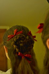 Day 42 - Hairy Heart (MorganDonner) Tags: hair nikon day valentine ribbon 365 braids bows bbp 365project d3100