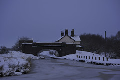 Pelsall Junction, Pelsall 22/01/2013 (Gary S. Crutchley) Tags: street uk travel winter england urban snow black west heritage history water night dark evening town canal frozen nikon long exposure slow nightscape shot nightshot image time britain cut lock united country great bcn kingdom junction shutter and after local nightphoto nikkor townscape inland staffordshire navigation westmidlands narrowboat vr waterway afs walsall midlands blackcountry ifed nightimage 24120mm f3556 nightphotograph essington wyrley d700 walsallweb