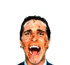 Patrick Bateman. (cooeedesign) Tags: travel wedding sea music usa david london art beach nature water make japan architecture illustration canon advertising poster square typography design cool flickr graphic creative squareformat font type 365 everyday something cooee delahunty iphoneography instagramapp