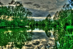 The Fennes (pborsey) Tags: uk lake reflection water canon eos stillwater idyllic essex fishery braintree carpfishing tonemapped canoneos400d bocking singleexposuretonemapped thefennesestate dayticketwater