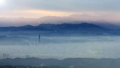 101  () Tags: sunset sky bw cloud mountain canon landscape scenery taiwan 101 taipei 1855 1022    550d nd1000 nd110  55250 nd106