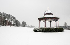 Pristine Winter Scene - Magdalen Green Bandstand - Dundee Scotland (Magdalen Green Photography) Tags: winter scotland cool riverside dundee scottish snowing tayside snowscenes magdalengreenbandstand scottishwinter iaingordon dundeewestend snowindundee magdalengreenphotgraphy pristinewinterscene