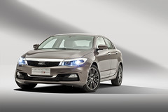 Qoros 3 Sedan - front qtr wheels turned lights on (bigblogg) Tags: sedan qoros3 qorosgq3 geneva2013