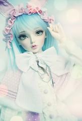 rabbit heart (Cyristine) Tags: pink cute rabbit ball asian doll chloe super sd kawaii bjd dollfie sd10 fairyland usagi f60 jointed dollheart sd13 feeple60
