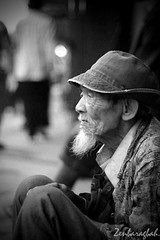 God's Gift (baragbahzen) Tags: old people man face indonesia beard photo blackwhite emotion great poor deep future emotional past indo touching feelings