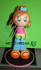 Fofucha Lolita (Artesanias AIJ) Tags: recuerdo regalo artesania manualidad gomaeva fofucha