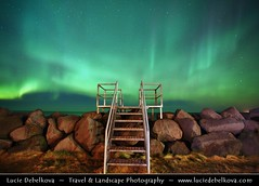 Iceland - Reykjanes peninsula - Keflavik - Stairway to Heaven & Aurora - Northern Lights ( Lucie Debelkova / www.luciedebelkova.com) Tags: world trip travel vacation holiday tourism beautiful wonderful island iceland nice fantastic perfect europe tour place awesome country sightseeing visit location tourist best journey stunning destination sight traveling lovely visiting exploration incredible touring breathtaking sland icelandic northatlanticocean polarregion luciedebelkova wwwluciedebelkovacom luciedebelkovaphotography nordiceuropean