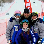 Stephanie Gartner (front); Hallie MacLachlan, Kerrin Lee-Gartner, Emma King (back) - BC Team in Collingwood PHOTO CREDIT: Robyn Finley