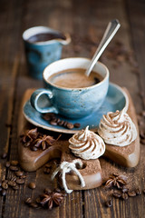 Breakfast with coffee and cocoa meringues (The Little Squirrel) Tags: food coffee breakfast dessert photography sweet cocoa foodphotography meringues nikond700