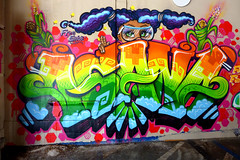(Lulu Vision) Tags: streetart girl wall colorful painted urbanart agana sfurban freeelvira