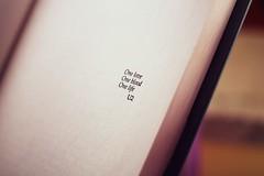 9/52 ( sara.) Tags: life love u2 50mm one book blood si libro books libri uno solo da page margaret amore pagina vita sangue salva nessuno mazzantini