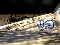 Highway Underpass Graffiti (markchevy) Tags: bridge landscape graffiti photo newjersey interesting highway colorful graphic nj picture scene vista a3300 canonpowershota3300