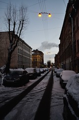 Mozhayskaya street (T4_photo) Tags: street houses winter urban evening nikon saintpetersburg 1855 dx geometriegeometry d7000