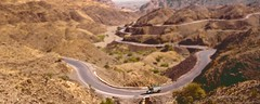 Khyber Pass, Pakistan - miniature effect (Malc ©) Tags: pakistan afghanistan mountains photo pass tribal silkroad peshawar taliban strategic prohibited khyber tiltshift khyberpass photosof grandtrunkroad landikotal spinghar