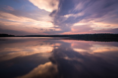 Color Splash (Brian Koprowski) Tags: park longexposure sunset lake water clouds forest reflections evening long exposure pentax 10 hills forestpreserve slough palos cookcounty stopper stops ndfilter cookcountyforestpreserve palospark saganashkeeslough pentaxk5 briankoprowski bkoprowski