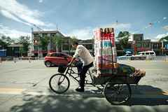 Paperman (Jesper Yu) Tags: china street bike asia wide tibet panasonic load 714 gf1
