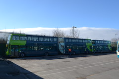 Arriva North West 4493 MX62KTD - 4507 MX13AEJ - 4512 (4513) MX13AEP (Will Swain) Tags: street uk england west bus buses liverpool march tour garage north birkenhead trust vehicle depot restoration laird 3rd merseyside arriva 4507 2013 4493 4513 4512 nwvrt mx62ktd mx13aej mx13aep