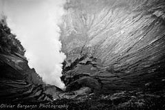 Inside Mount Bromo (funkytravel) Tags: white mountain black nature rock stone print island volcano lava java desert fineart ile east mount explore popular lunar eruption bromo lave volcan fumee eastjava aride
