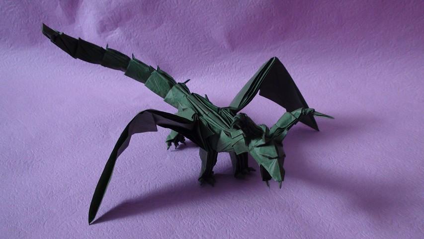 Origami Darkness Dragon Madabayka Tags Mori Origamitadashi