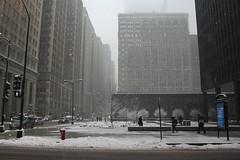 Last Week (Flint Foto Factory) Tags: plaza city winter urban snow chicago storm john march office illinois downtown afternoon unitedstates post loop jackson clark tuesday pedestrians blizzard 5th federal precipitation kluczynski 2013