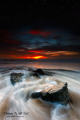 Entirety (Kiall Frost) Tags: ocean seascape beach water night sunrise stars landscape flow twilight sand nikon rocks australia nsw merewether starscape beachphotos kiallfrost d800e
