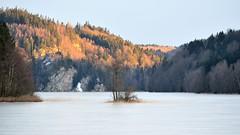 Evening light (stefanh.varberg) Tags: winter sunset sun lake snow ice forest nikon rocks sweden nikkor varberg nsslinge d5100 nikond5100 nikkor55300f4556