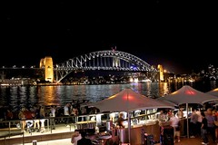 Sydney Harbour Bridge (oxfordblues84) Tags: bridge night evening nightlights au sydney australia circularquay nsw newsouthwales sydneyharbour afterdark sydneyharbourbridge operabar 5photosaday thecoathanger