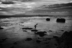 (archangelse) Tags: light bw man silhouette indonesia java mood pentax expression documentary shades reflective k5 reportage anyer banten