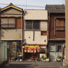 To the alley (tip-d) Tags: road street camera city beauty japan shop digital photography alley minolta olympus snap nagoya omd   em5