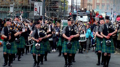DSCF19983 (dkmcr) Tags: england manchester march bagpipes 17th pipeband stpatricksdayparade corporationstreet irishfestival 2013