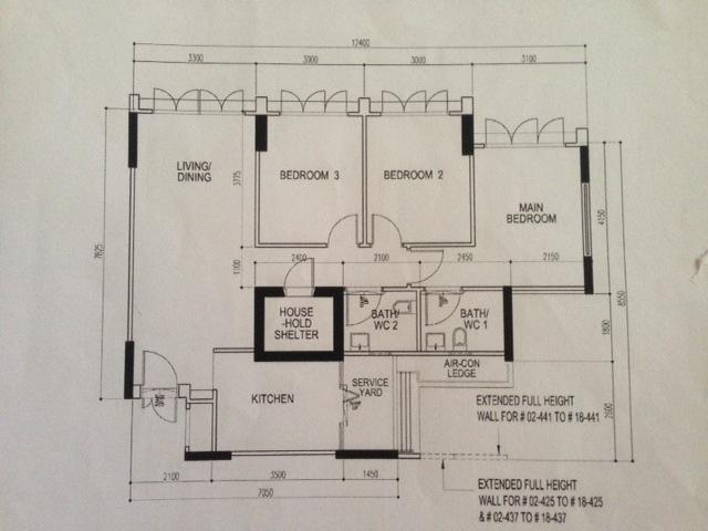 HDB BTO 4 room standard 93 sqm