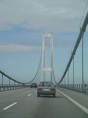 On the 18 km long bridge across Storeblt (the Great Belt Bridge) that links eastern and western Denmark (Ciska van Geer) Tags: bridge copenhagen denmark kopenhagen denemarken storeblt