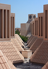Qatar University (EzZDergham) Tags: sky brown green square education university doha qatar qu ezzdergham