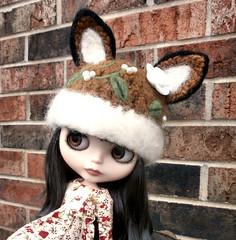 Felted Flowery Fox Hat