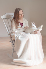 13/52 all you need for happyness: a book and a bunny (or two) (Gret B.) Tags: light selfportrait cute bunny self buch lesen reading book licht read enjoy lea ostern hase 52 kaninchen selbst pastell happyness selbstportrt glck weis schaukelstuhl 52weeks ss zufriedenheit 1352 52weeksproject 52wochen 52wochenprojekt
