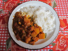 MrC's sweet potato & butternut squash curreh (Rain Rabbit) Tags: vegan sweet curry potato squash butternut