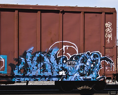 JOKE (Electric Funeral) Tags: railroad art digital train canon photography graffiti midwest nebraska paint joke railway iowa kansascity railcar missouri lincoln kansas traincar omaha boxcar graff aerosol freight tio cbs desmoines freighttrain ferment councilbluffs benched benching xti freighttraingraffiti