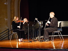 The Black Box Trio on Ley stage, Wayne State College (ali eminov) Tags: music musicgroups theblackboxtrio colleges waynestatecollege wayne nebraska kathi karl philip