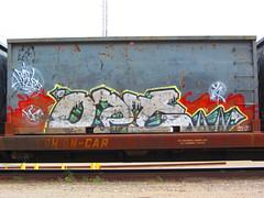 Opt (VDub (o\I/o)) Tags: railroad art painting graffiti paint pieces rail railway railcar heads boxcar panels graff piece aerosol freight boxcars opt freights railart piecing railside benching railheads